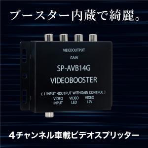 映像分配器 4ポート ビデオブースター ビデオアンプ 4台までモニターを接続可能 条件付 送料無料 _43052|zest-group