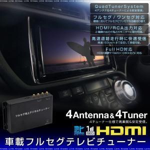地デジチューナー フルセグチューナー 車載用 フルセグ ワンセグ 自動切換 4アンテナ 4チューナー HDMI USB SD アップデート対応 条件付き   _43172 zest-group