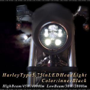 ハーレーダビッドソン LED ヘッドライト 5.75インチ ...