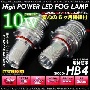 HB4 9004 フォグ フォグランプ ハイパー CREE LED 10W 白 ホワイト プロジェクター レンズ付 2個 純正 フォグ 交換用 LED バルブ ブロス製 _27065 zest-group