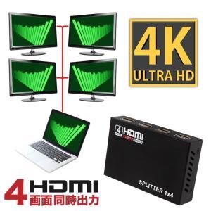 HDMI 分配器 4出力 1入力 HDMIスプリッター ハイパフォーマンス 1080P対応 HDMIセレクター HDMI分配器 条件付 送料無料 _83150|zest-group