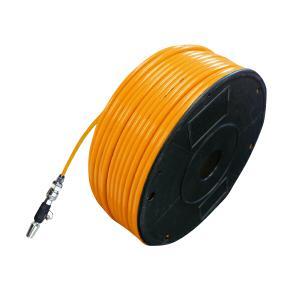 エアーホース 100m ワンタッチカプラー 3個付 ポリウレタン樹脂 オレンジ    _92341|zest-group