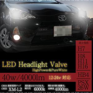 LED CREE ヘッドライト バルブ 40W 4000lm HB4 H7 H8 H11 H16 PSX26W 12V/24V 2個 6000K 4000ルーメン XM-L2 条件付/送料無料 @a518|zest-group