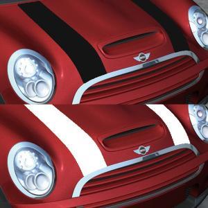 MINI(ミニ) R55S/R56S/R57S ボンネットストライプ クーパーライン 全2色  「CLOS」クロス|zeus-japan