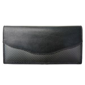 長財布 カーボン×本革 ブラックステッチ 「ルキミア」|zeus-japan
