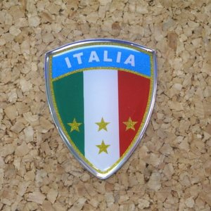 「クワトロエレ」 3Dステッカー ●サイズ:35×45mm ITALY(イタリア) タイプAスター 「ネコポス・宅配便コンパクトOK」|zeus-japan