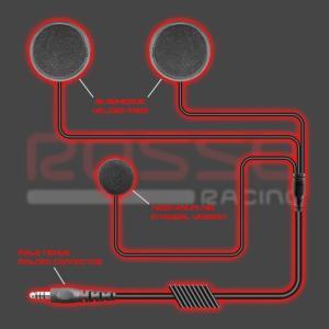RossoRacing PELTOR互換 ヘルメットキット フルフェイス用 KC-200-I|zeus-japan