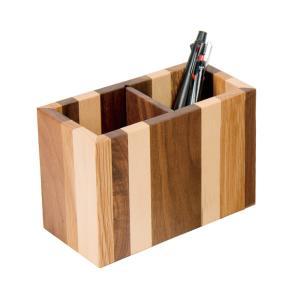 木製ペン立て 角 モザイク DENシリーズ PLAM|zeus-japan