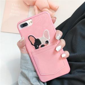 iPhone7 ケース/ iPhone8ケースカワイイ刺繍ポ...
