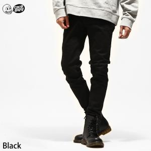 ジーンズ メンズ スキニー デニム パンツ ストレッチ ボトムス ブラック 黒スキニー ファッション (0243968) zip