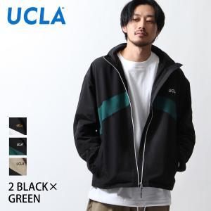 ブルゾン メンズ ジャケット アウター スタンドブルゾン 切替 ナイロンジャケット スポーティ UCLA ファッション (126103) zip