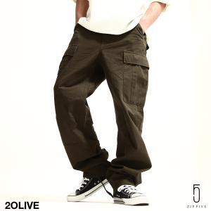 カーゴパンツ メンズ パンツ ワークパンツ ワイド ゆったり 綿リップ 無地 おしゃれ ファッション 送料無料 (131930br)|zip