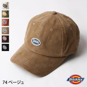 キャップ メンズ 帽子 ワッペン ワンポイント コーデュロイ Dickies ディッキーズ ファッション (14473200) zip