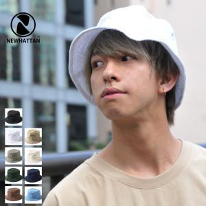 ハット メンズ バケットハット 帽子 ハット 無地 newhattan ニューハッタン ファッション (1500) #|zip