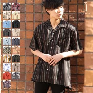 シャツ メンズ  オリジナルブランド【ZIP FIVE】より、トレンドのオープンカラーを取り入れた半...