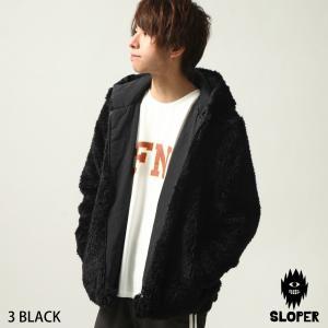 パーカー メンズ パーカージャケット アウター リバーシブル 中綿 フェイクファー キルティング 長袖 もこもこ ファッション (450212)|zip