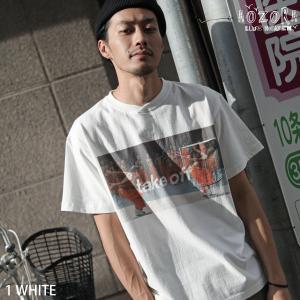 Tシャツ メンズ カットソー 半袖 プリント クルーネック ポケット付き トンプキン AOZORA ファッション (712605)|zip