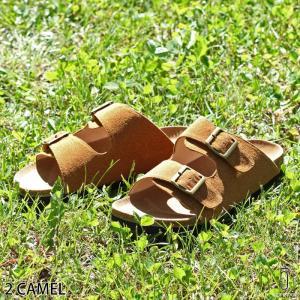 サンダル メンズ コンフォートサンダル 靴 コルク PU レ...