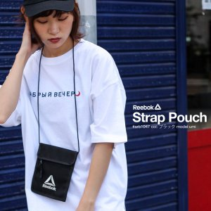 ショルダーバッグ メンズ バッグ 鞄 フェス ポーチ ストラップ サコッシュ 無地 コンパクト Reebok リーボック ファッション (arb1047) #|zip