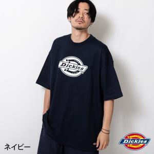 Tシャツ メンズ カットソー 半袖 クルーネック ロゴ ロゴプリント ビッグシルエット オーバーサイズ Dickies ディッキーズ ファッション (dk006534) zip