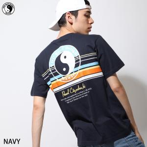 Tシャツ メンズ カットソー 半袖 クルーネック ロゴプリント プリント バックプリント ボーダー T&C Surf Designs ファッション ポイント消化 (dm6080)|zip