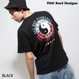 Tシャツ メンズ Tシャツ カットソー 半袖 クルーネック プリント ワンポイント バックプリント T&C Surf Designs ファッション ポイント消化 (dm6081)|zip