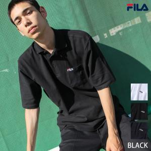 ポロシャツ メンズ ゴルフウェア ポロシャツ 半袖 鹿の子 無地 ワンポイント FILA フィラ ファッション (fh7505)|zip