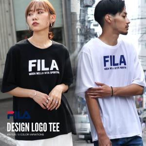 Tシャツ メンズ カットソー 半袖 クルーネック ロゴ プリント 別注 ビッグシルエット オーバーサイズ スポーティ FILA フィラ ファッション (fh7528)|zip