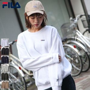 トレーナー メンズ スウェット クルーネック 長袖 裏起毛 ロゴ ロゴ刺繍 ワンポイント ストリート FILA フィラ ファッション (fh7570)|zip
