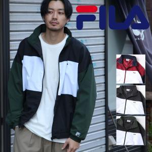 ナイロンジャケット メンズ ジャケット ブルゾン アウター ナイロン 切替 スポーティ FILA ファッション (fh7631) zip