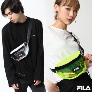 ヒップバッグ・ウエストバッグ メンズ クリアバッグ ボディバッグ バッグ 鞄 フェス FILA フィラ ファッション (fm2148)|zip