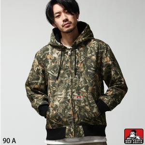 中綿入りジャケット メンズ ワークジャケット ジャケット ブルゾン 無地 総柄 アウター BEN DAVIS ベンデイビス ファッション (g-8780010)|zip