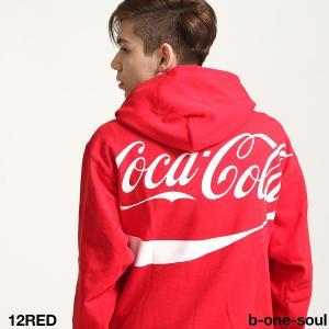 プルオーバーパーカー メンズ パーカー プルオーバー スウェット ロゴ プリント ワイドシルエット コカコーラ Coca Cola ファッション (i-7770953)|zip