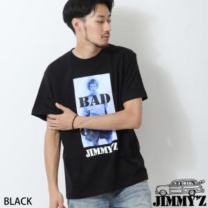 Tシャツ メンズ カットソー プリントTシャツ 半袖 クルーネック プリント フォトプリント モノトーン ストリート JIMMY'Z ジミーズ ファッション (jm-1901-019)|zip