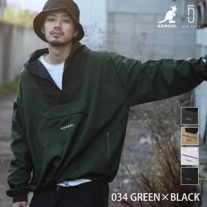 予約商品 ナイロンジャケット メンズ アノラック ジャケット ブルゾン アウター 長袖 スポーティ プルオーバKANGOL ファッション (kgaf-0001) D|zip