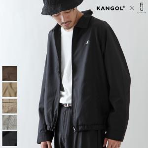 スイングトップ メンズ コーチジャケット セットアップも可 ライトアウター 無地 チェック KANGOL カンゴール ファッション (kgaf-0003) D|zip