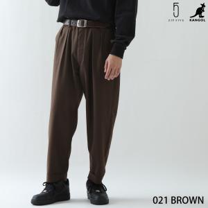 テーパードパンツ メンズ セットアップも可 テーパード ワイドパンツ ボトムス 無地 チェック 刺繍 KANGOL カンゴール ファッション (kgaf-0004) D|zip