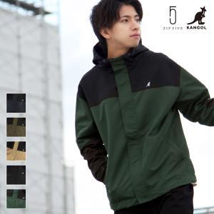 予約商品 マウンテンパーカー メンズ ジャケット ブルゾン ライトアウター 長袖 タスラン 無地 アウトドア KANGOL カンゴール ファッション (kgaf-0005)|zip