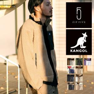 ジャケット メンズ アウター ボア フリース ブルゾン もこもこ ふわふわ 刺繍 ワンポイント アウトドア カンゴール KANGOL ファッション (kgaf-0006) zip