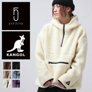 予約商品 アノラック メンズ アウター ボア フリース ジャケット スポーティ 刺繍 ワンポイント アウトドア カンゴール KANGOL ファッション (kgaf-0007)|zip