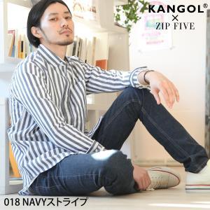 ボタンダウンシャツ メンズ シャツ 長袖 ブロードシャツ 無地 チェック柄 ストライプ KANGOL ファッション ポイント消化 (kgsa-zi1830)|zip