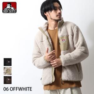 ジャケット メンズ フリースジャケット ボアジャケット ブルゾン アウター もこもこ ボア 無地 ワンポイント BEN DAVIS ファッション (m-9780004) zip