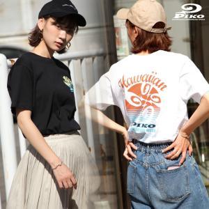 Tシャツ メンズ カットソー 半袖 クルーネック プリント ロゴ バックプリント PIKO ピコ ファッション ポイント消化 (pkm1400)|zip