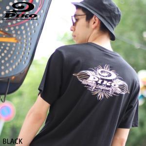 Tシャツ メンズ カットソー 半袖 クルーネック プリント ロゴ バックプリント PIKO ピコ ファッション ポイント消化 (pkm1407)|zip
