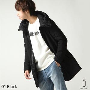 コート メンズ アウター 中綿 中綿コート フード 無地 ロング丈 スポーティ ファッション (t-7751020)|zip