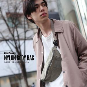 ボディーバッグ メンズ 鞄 バッグ ミニバッグ ナイロン サブバッグ ウエストポーチ コンパクト フェス シンプル WILDTHINGS ファッション (wt-380-0135)|zip