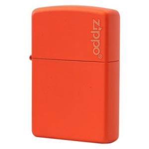 ■Zippo(ジッポー):マットカラー・ロゴ入り/231ZL Orange Matte  シンプルで...