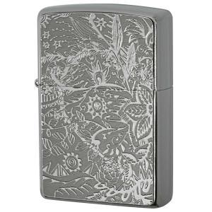 Zippo ジッポ ジッポーライター Metal Plate 真鍮板メタルプレート 2MP-ボタニカル|zippo-flamingo