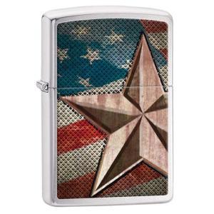 Zippo(ジッポー):Retro Star and Flag/28653