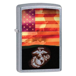 Zippo ジッポ ジッポーライター US Marine Corps USMC Soldier and Flag 29123|zippo-flamingo